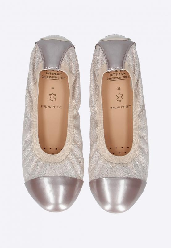 Platynowe baleriny dziewczęce GEOX