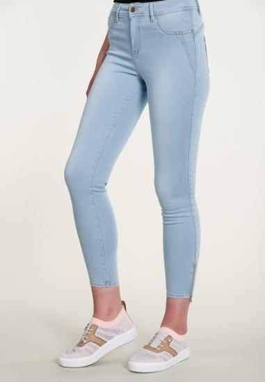 Spodnie jeans z zamkami...