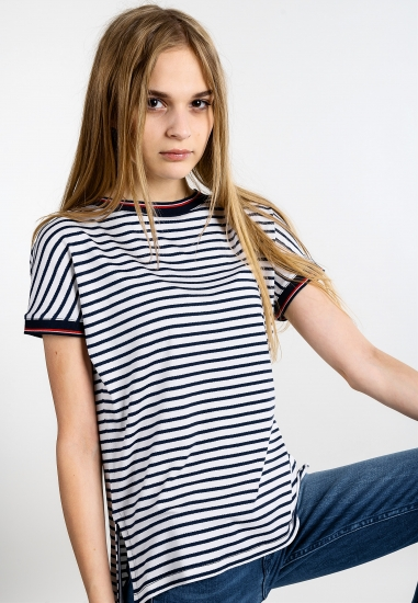 Koszulka z wiskozy Tommy Jeans