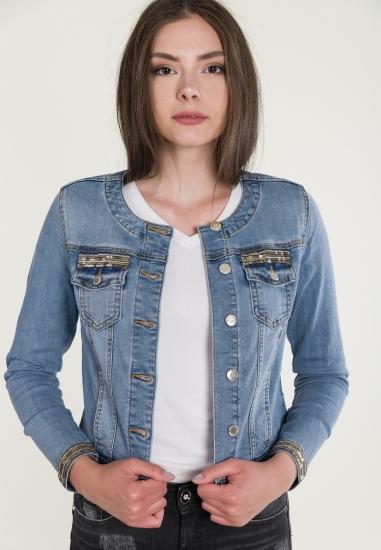 Kurtka jeansowa ze zdobieniami STREET ONE