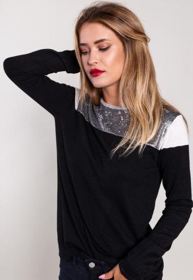 Wielokolorowy sweter z...