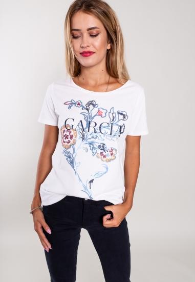 T-shirt z nadrukiem Garcia...