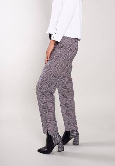 Spodnie cygaretki w kratkę Trussardi Jeans