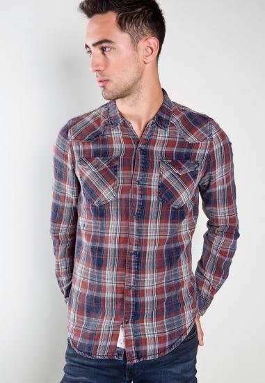Koszula w kratkę slim fit...