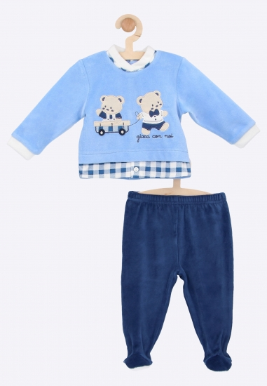Bluza i spodnie ze stópkami Bidibimbo