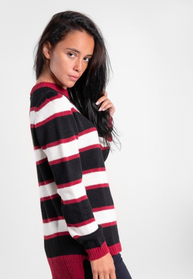 Sweter w paski Age -...