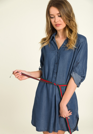 Jeansowa sukienka ARTIGLI -...