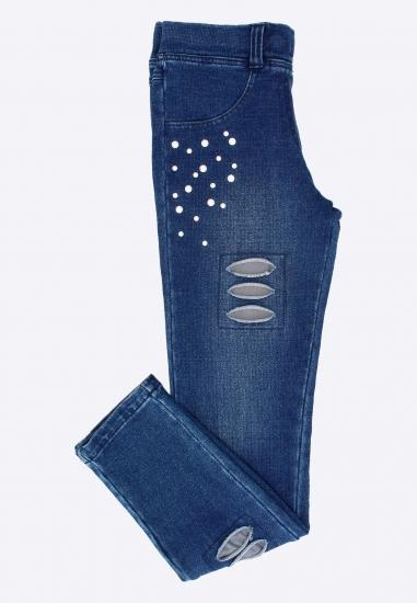 Jeansy z elastycznej...