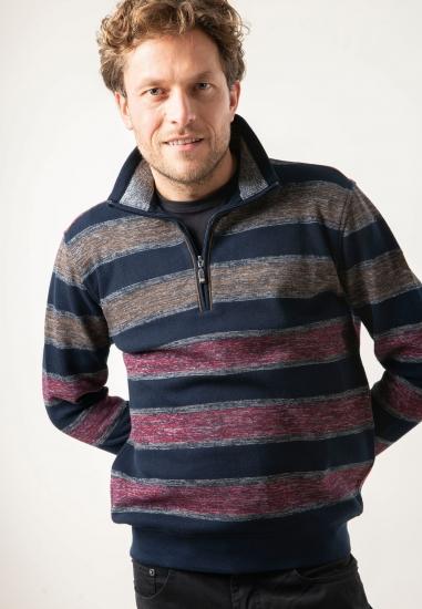 Sweter w paski ze stójką Rotte Mediterranee