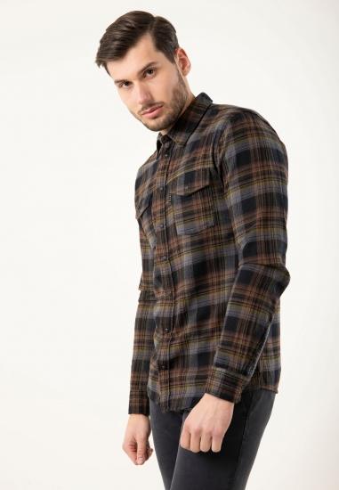 Koszula z bawełny w kratkę slim fit Blend