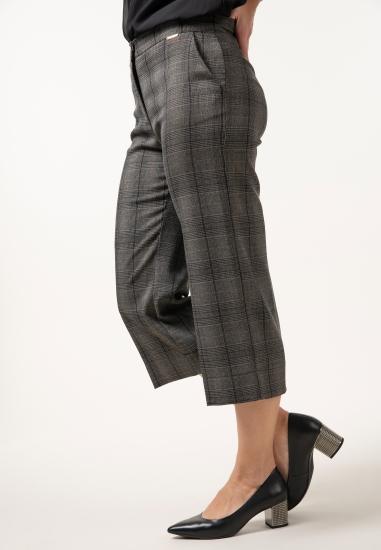 Spodnie culotte w kratkę Ake