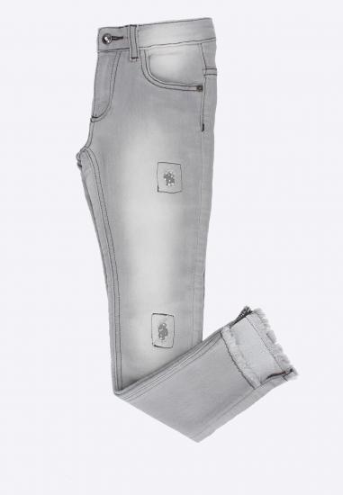Cieniowane spodnie z diamencikami Melby