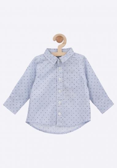 Chłopięca koszula w kropki Blue Seven