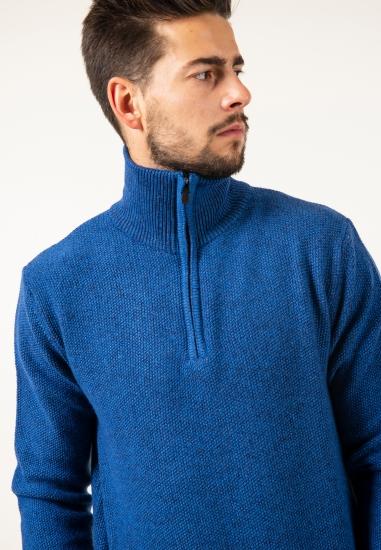 Sweter z zapinaną stójką...
