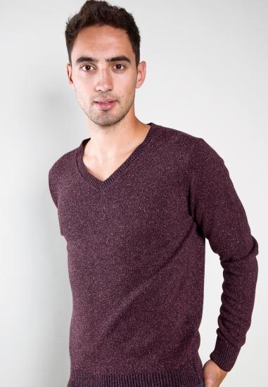 Big size Sweter z dodatkiem wełny i jedwabiu Re Del Mare
