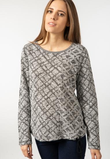 Wzorzysty sweter Cecil -...