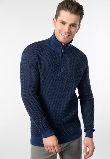 Sweter ze stójką z...