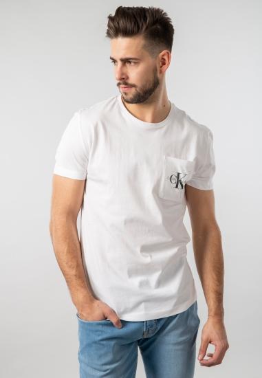 T-shirt męski z kieszonką Calvin Klein