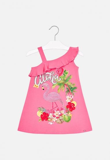Sukienka z flamingiem i...