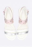 Sandały dziewczęce ze zdobieniem GEOX J S.CORALIE G. C