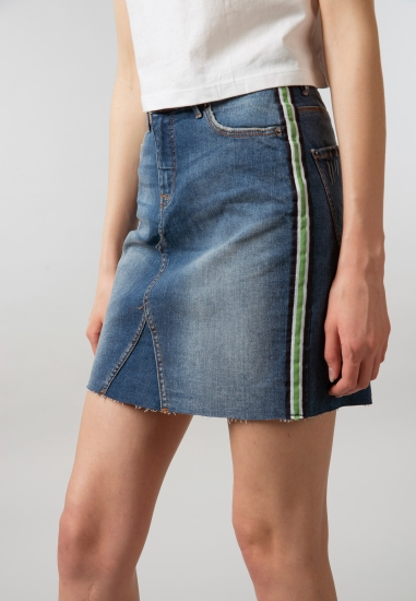 Spódnica jeansowa z lampasem Blend