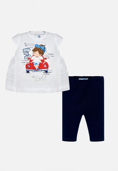 Komplet dziewczęcy koszulka + legginsy