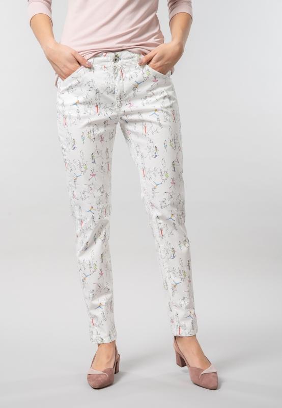 Wzorzyste spodnie damskie Pierre Cardin