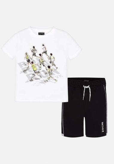 Komplet chłopięcy koszulka + bermudy Mayoral