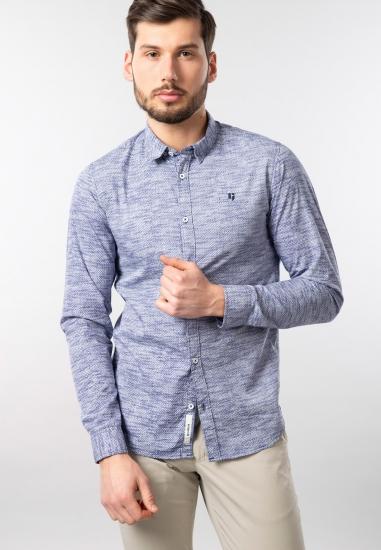 Męska koszula we wzory slim...