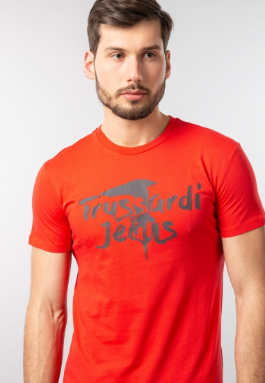 Koszulka męska z nadrukiem Trussardi Jeans