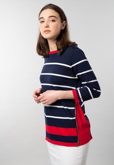 Sweter damski w paski z...