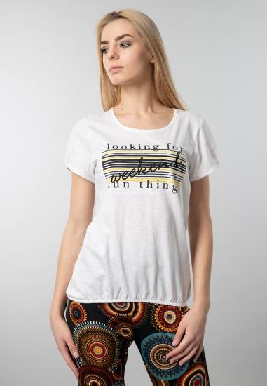 T-shirt damski z nadrukiem Blue Seven