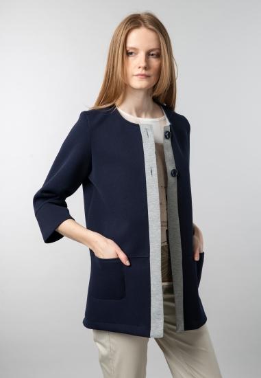 Dzianinowy płaszcz Chiara D'alba - 007GRANAT