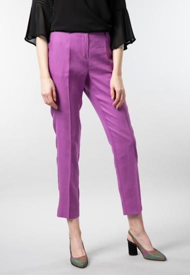 Lniane spodnie cygaretki damskie Vivace Fashion