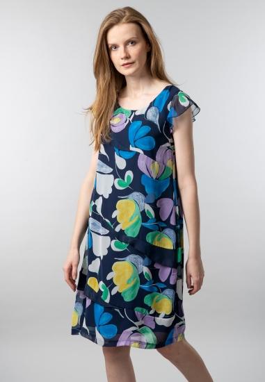 Wzorzysta sukienka Blue...