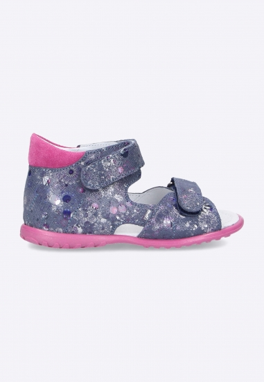 Sandały dziewczęce ze zdobieniem Emel