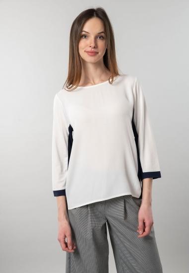 Bluzka z łączonych tkanin Street One