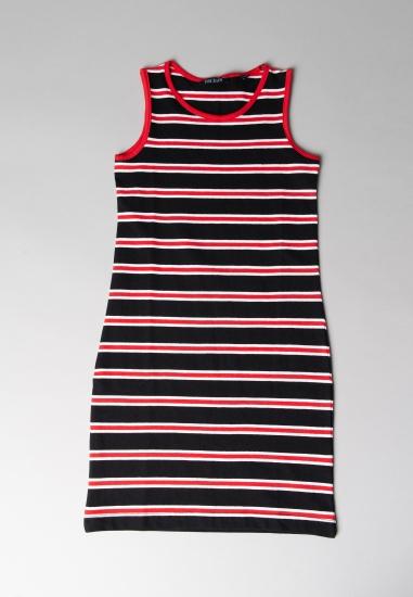Sukienka w paski Blue Seven - 006328 CZERWONY