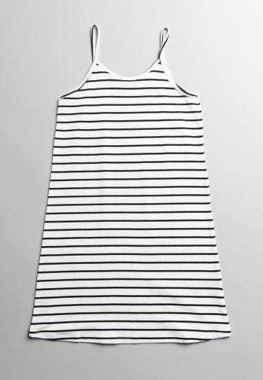 Sukienka na ramiączkach Blue Seven - 001001 BIALY-PASKI