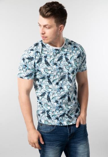Wzorzysty t-shirt męski Pioneer