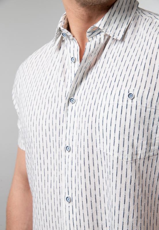 Koszula męska slim fit z krótkim rękawem Roy | Nico  maNRN