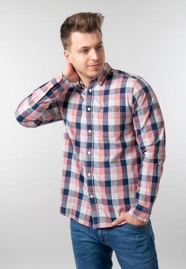 Męska koszula w kratkę...