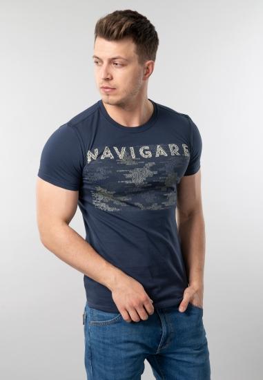 T-shirt męski z nadrukiem Navigare
