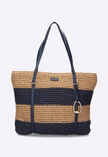 Słomiana torebka Ralph Lauren