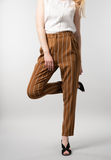 Spodnie damskie cygaretki w...