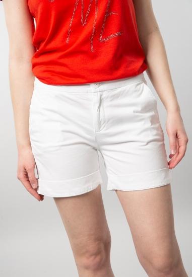 Szorty damskie Tommy Jeans - 001100 BIALY