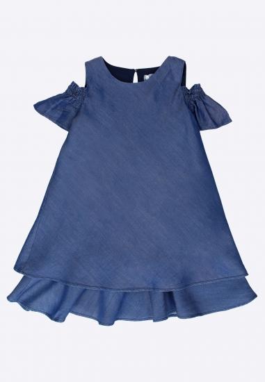 Dziewczęca sukienka Melby - 007730N GRANAT