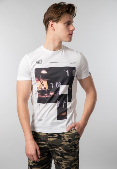 T-shirt męski z nadrukiem Gas