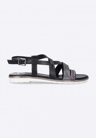 Sandały ze zdobieniem Marco Tozzi