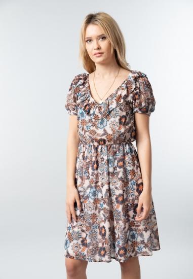 Wzorzysta sukienka damska Ake